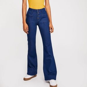 Nwt free people Wrangler flare bellbottom jeans